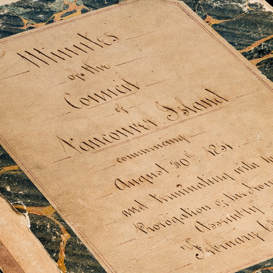 Minute Book of the Council of Vancouver Island, 1851-1861