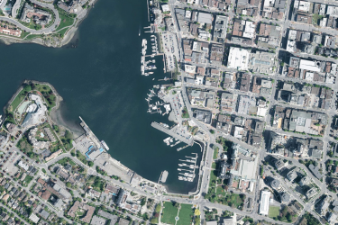 Aerial photo of the Victoria Inner Harbour
