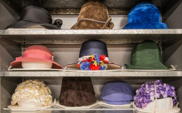 Women's Hats in the Modern History Collection Area
