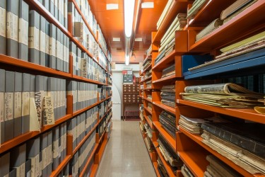 The stacks at the BC Archives