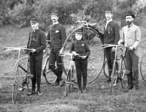 First bicycle club in Nanaimo; on The Green