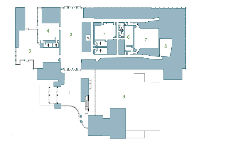 RBCM first floor map