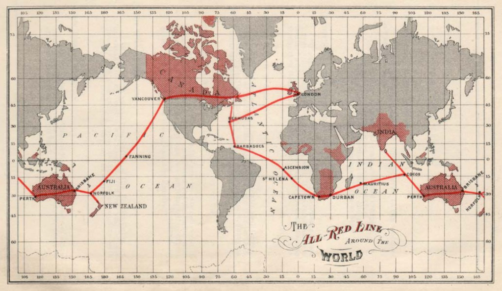 The All Red Line linked the British Empire and flowed through British Columbia.