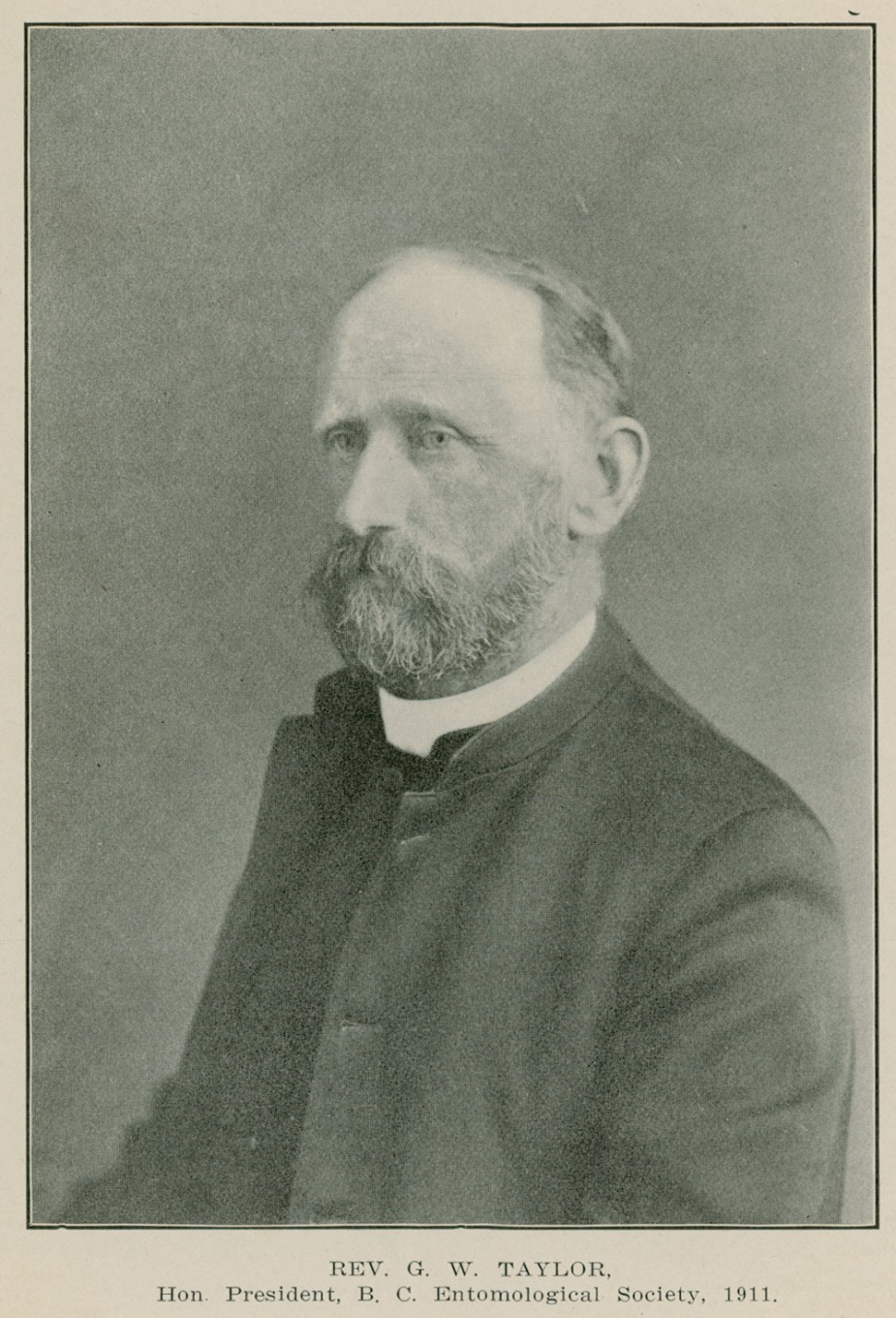 Figure 3. Rev. George W. Taylor (1851-1911). Clergyman, mollusc expert, lepidopterist, and founder and first Director of the Marine Biological Station at Nanaimo.