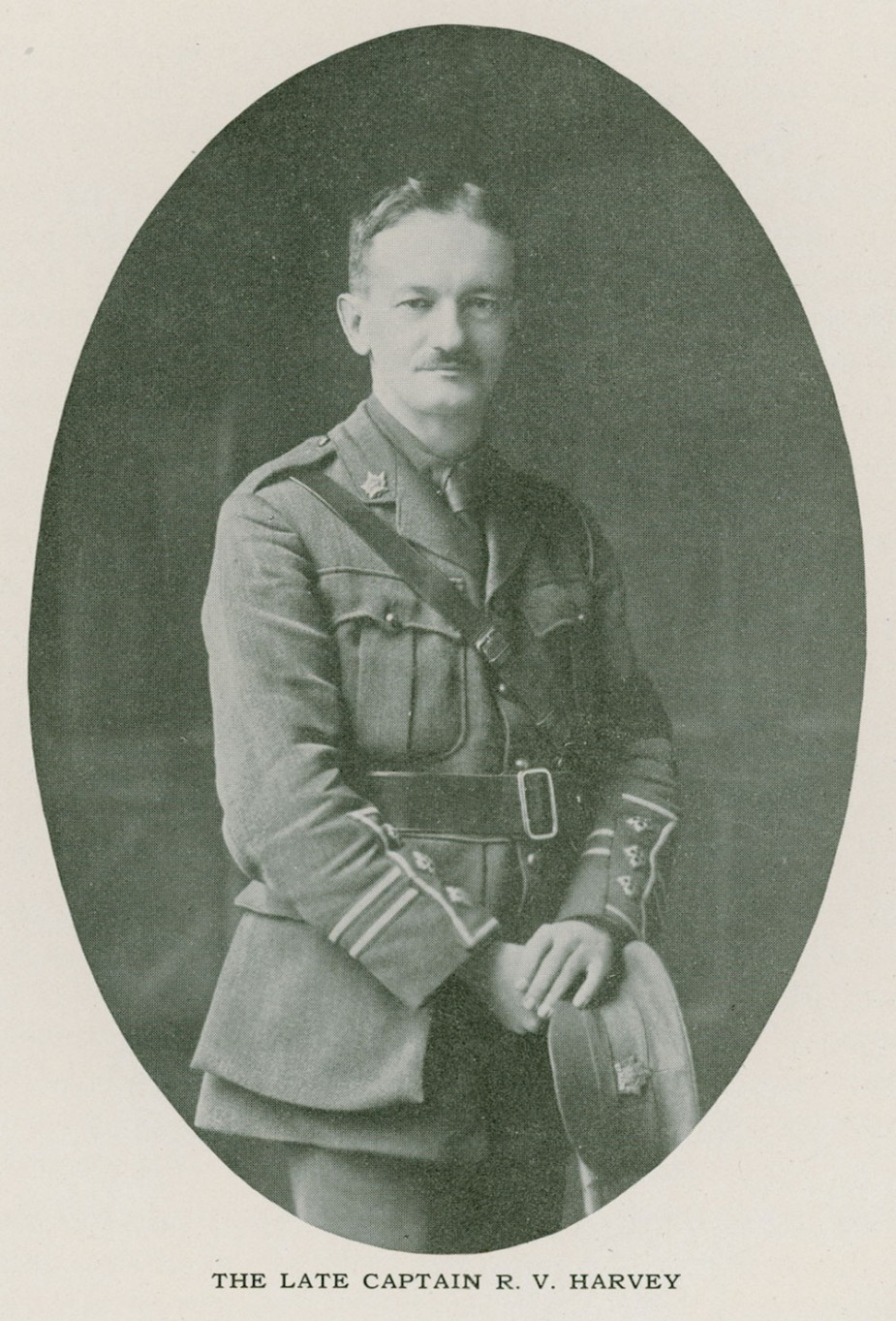 Figure 2. R.V. Harvey (1872-1915). Schoolmaster, entomologist and soldier, started the Entomological Society of BC in 1901. He was a captain in the 7th Battalion, Canadian Expeditionary Force, during World War I and died of wounds suffered in France in April 1915.