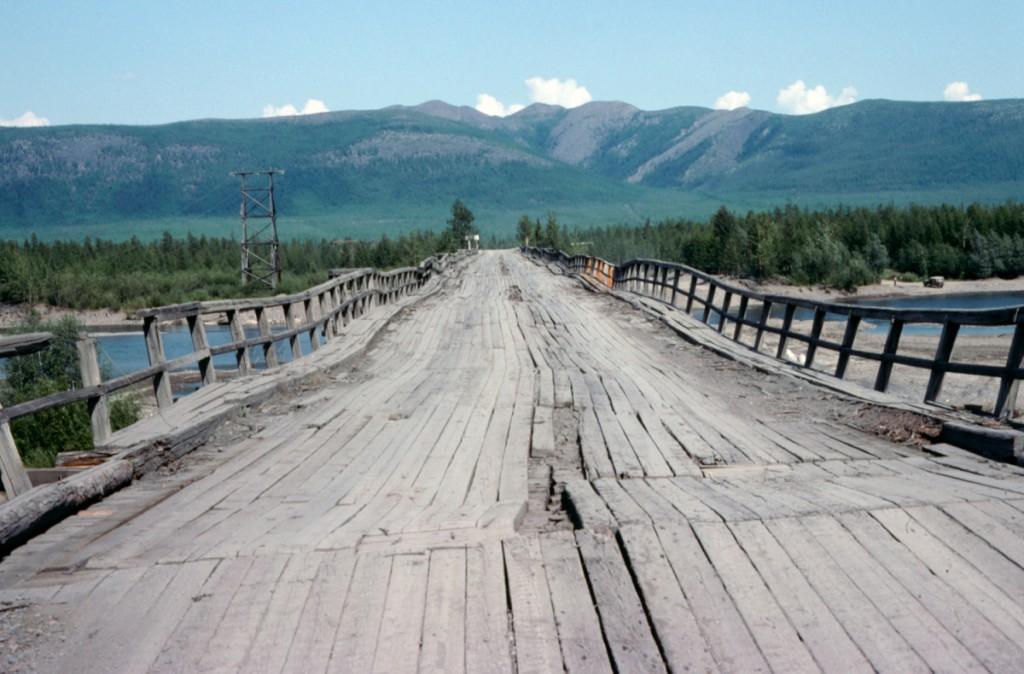 Figure 8. River bridge on the Kolymskaya Highway north of Magadan.